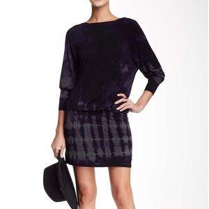 American Twist Pop Over Mini Tie Dye Dress NWOT M